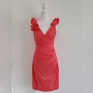 NEW! Maggy London coral rouge sheath dress sz 2